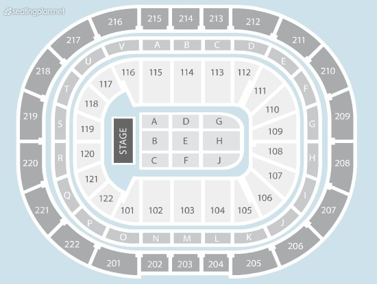 Seating Plan at Manchester Arena