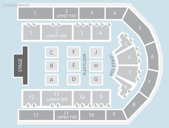 Seating Plan at Arena Birmingham