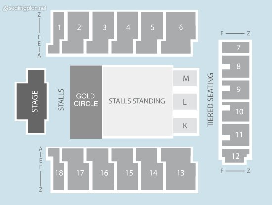 Seating Plan at Genting Arena