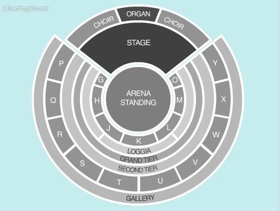 Seating Plan at Royal Albert Hall