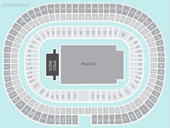 Seating Plan at Stade de France