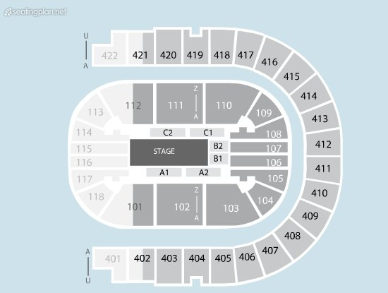 Seating Plan at The O2 Arena