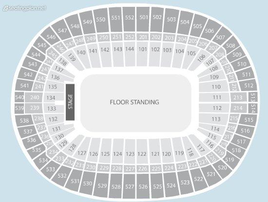 Seating Plan at Wembley Stadium