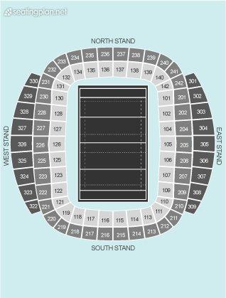 Seating Plan at Etihad Stadium Manchester