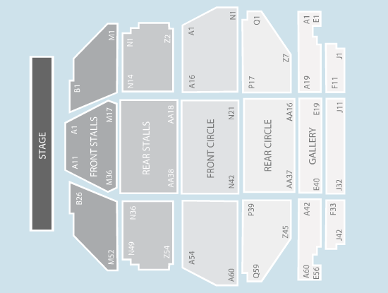 seated Seating Plan at Clyde Auditorium