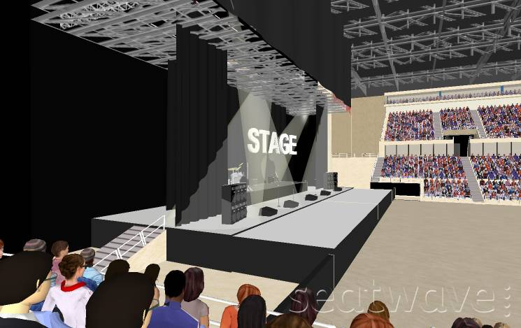 View from Seat Block 1 at Liverpool Echo Arena