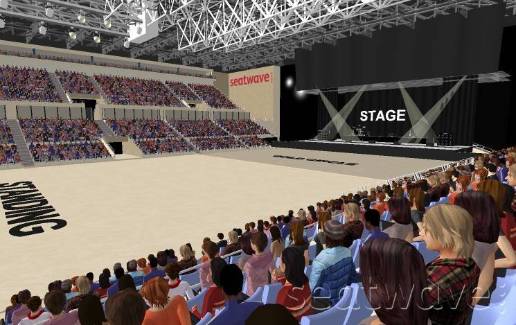View from Seat Block 11 at Liverpool Echo Arena