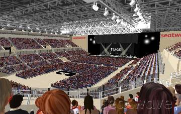 View from Seat Block 12 at Liverpool Echo Arena