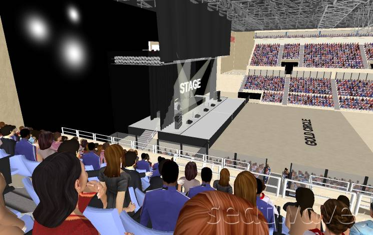 View from Seat Block 2 at Liverpool Echo Arena