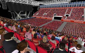 View from Seat Block 13 at Genting Arena