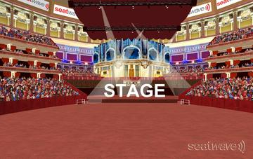 View from Seat Block Arena Standing at Royal Albert Hall