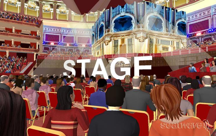 View from Seat Block F at Royal Albert Hall