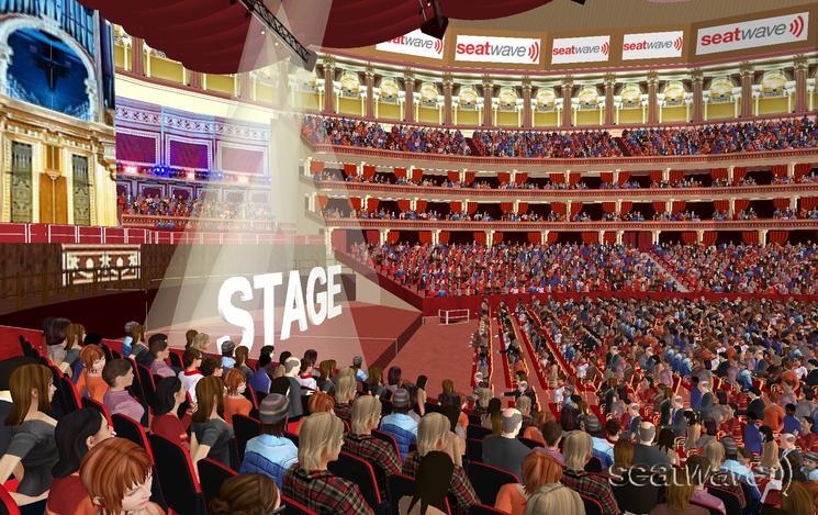 View from Seat Block G at Royal Albert Hall