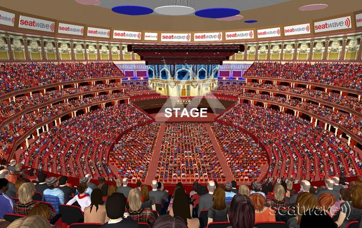View from Seat Block Gallery at Royal Albert Hall