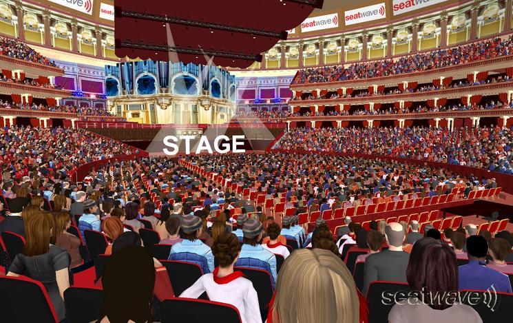 View from Seat Block J at Royal Albert Hall