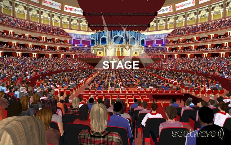 View from Seat Block K at Royal Albert Hall