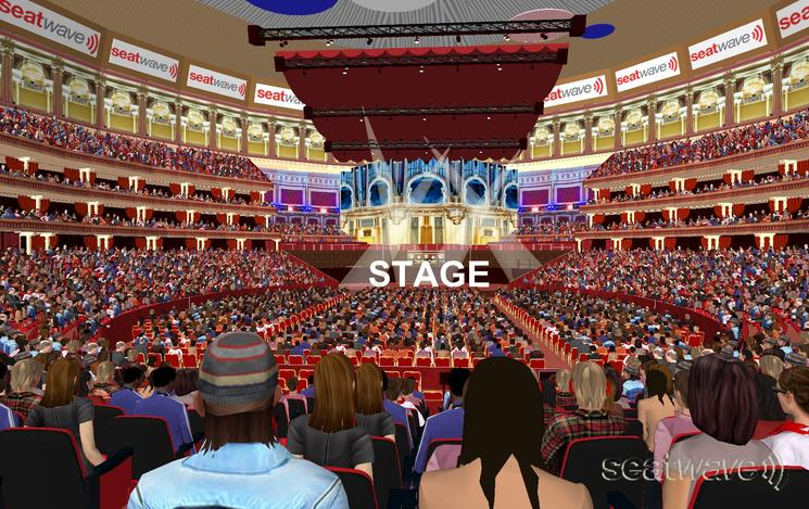 View from Seat Block Loggia at Royal Albert Hall