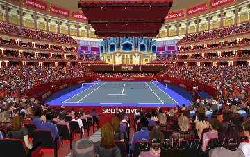 View from Seat Block LOGGIA BOXES at Royal Albert Hall
