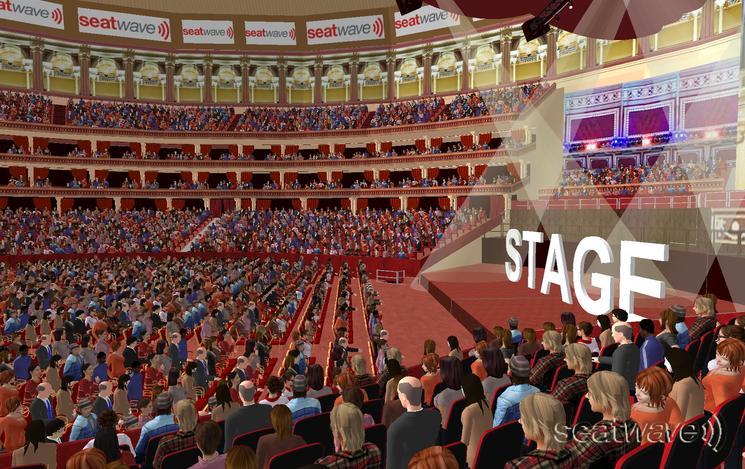 View from Seat Block O at Royal Albert Hall