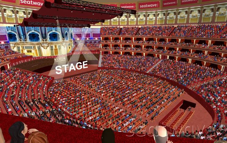 View from Seat Block Q at Royal Albert Hall