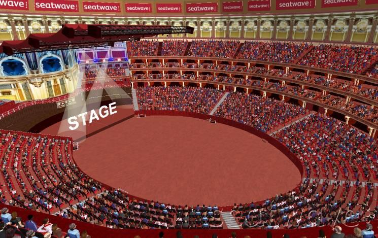 View from Seat Block V at Royal Albert Hall