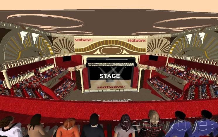 View from Seat Block LEVEL 3 at Shepherds Bush Empire