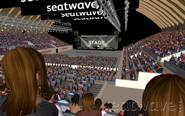 View from Seat Block E1 at SSE Arena Wembley