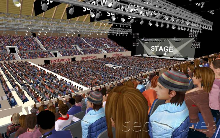 sse arena wembley view from seat block n13. Black Bedroom Furniture Sets. Home Design Ideas