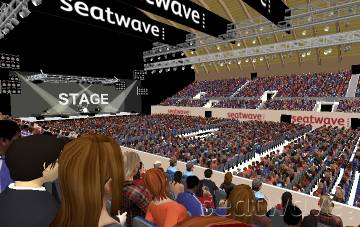 View from Seat Block S12 at SSE Arena Wembley