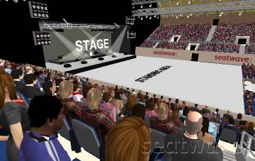 View from Seat Block S5 at SSE Arena Wembley