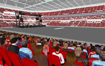 View from Seat Block 120 at Wembley Stadium