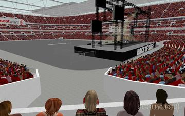 View from Seat Block 138 at Wembley Stadium