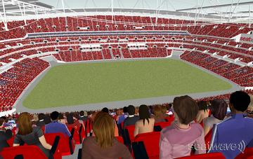 View from Seat Block 528 at Wembley Stadium