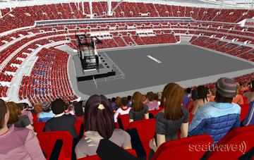 View from Seat Block 531 at Wembley Stadium