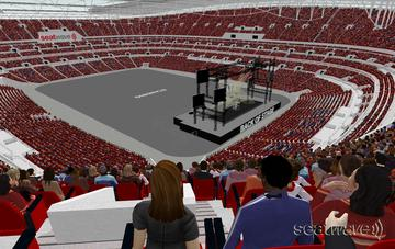 View from Seat Block 545 at Wembley Stadium