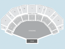 Standing Seating Plan at 3Arena