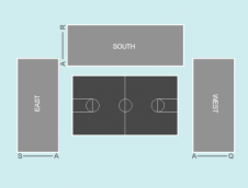 Basketball Seating Plan at Aberdeen Exhibition and Conference Centre