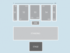 Standing Seating Plan at Aberdeen Exhibition and Conference Centre