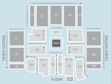 Wrestling Seating Plan at Aberdeen Exhibition and Conference Centre