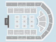 Seated Seating Plan at Arena Birmingham