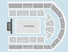 Standing Seating Plan at Arena Birmingham