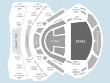 Seated Seating Plan at Birmingham Symphony Hall