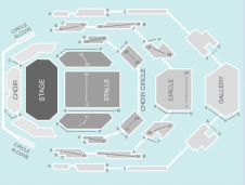 Seated Seating Plan at Bridgewater Hall