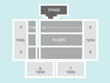 Darts Seating Plan at Motorpoint Arena Cardiff
