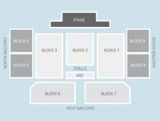 Seated Seating Plan at Motorpoint Arena Cardiff