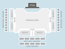 Standing Seating Plan at Motorpoint Arena Cardiff