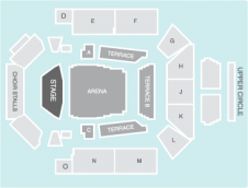Seated Seating Plan at Concert Hall Glasgow