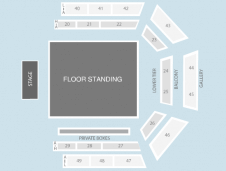 Standing Seating Plan at Earls Court