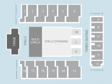 Gold circle Seating Plan at Genting Arena