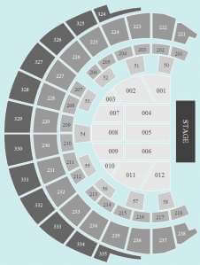 Seated Seating Plan at Hydro